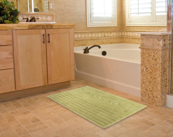 AUSSINO 100% Cotton Jacquard Bath Mats (3 Pieces)
