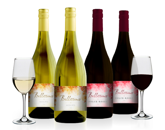 BELLISSIMO Moscato / Dolce Rosso Sweet Wines