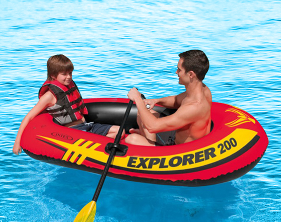 INTEX Explorer Pro Inflatable Outdoor Recreation Boat