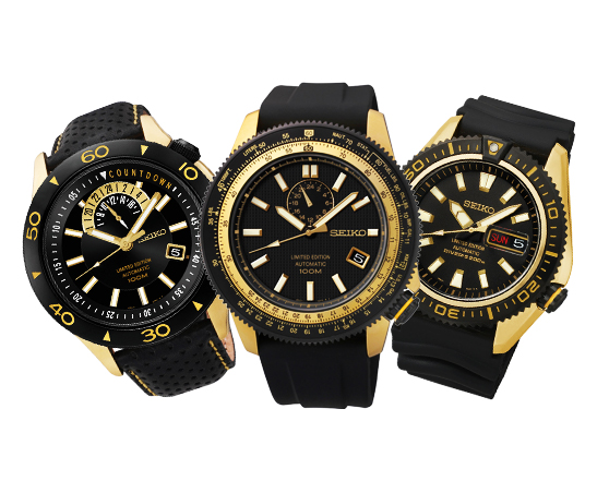 SEIKO Anniversary Limited Edition Black Gold Automatic