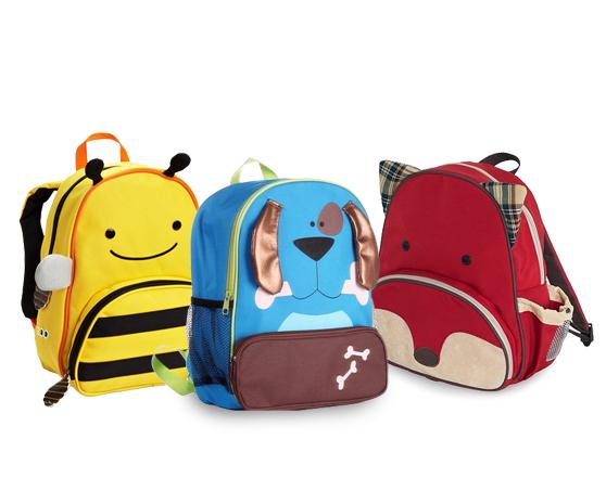 GREEN APPLE New Model Animal School Backpack
