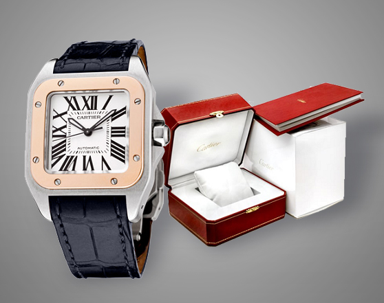 CARTIER Santos 100 Medium 18K Rose Gold Automatic
