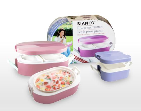 BIANCO Italian Design Thermal Double Wall Lunch Box