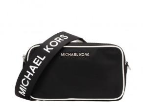 b10dd587aaee MICHAEL KORS Connie Nylon Small Camera Bag BLACK-OPTIC WHITE