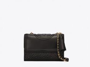 4504494b4f23 TORY BURCH Small Fleming Convertible Bag BLACK