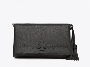 100cbaf924c9 TORY BURCH McGraw Fold Over Crossbody Bag BLACK