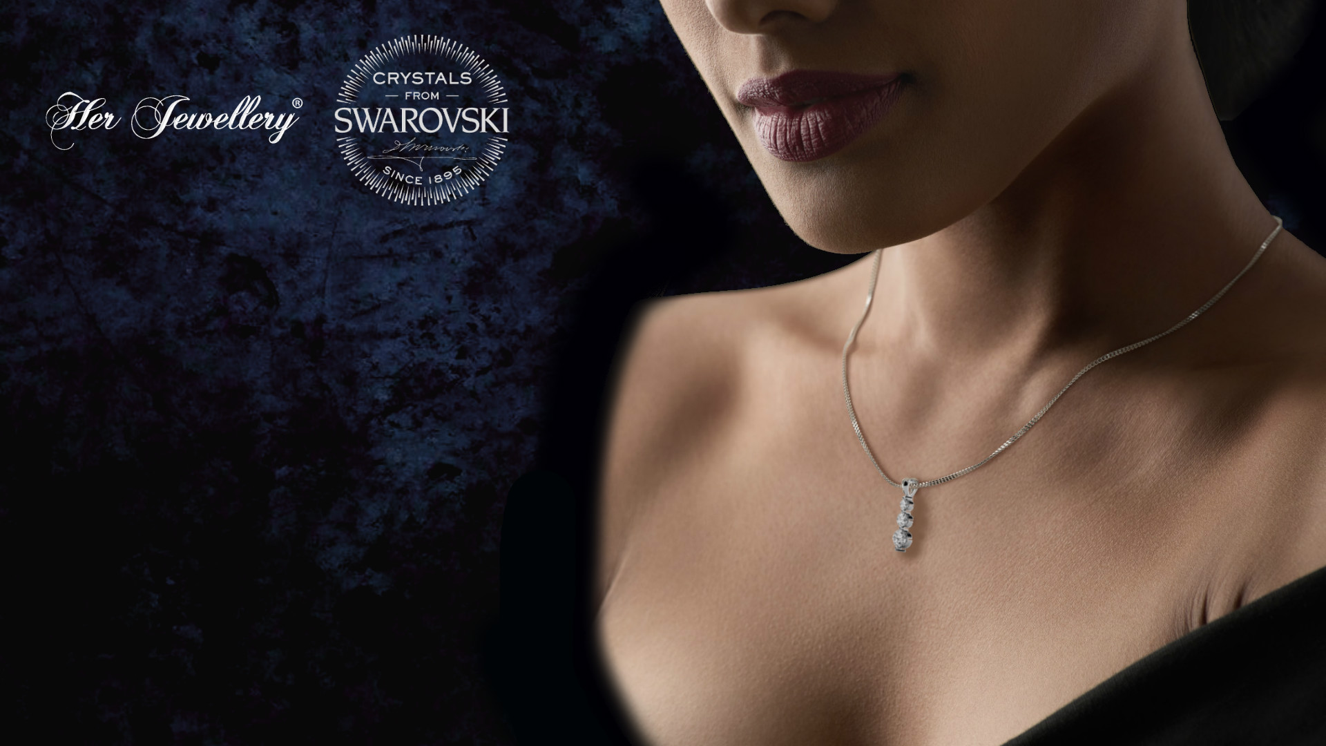 18K White Gold Plated Swarovski Journey Pendant