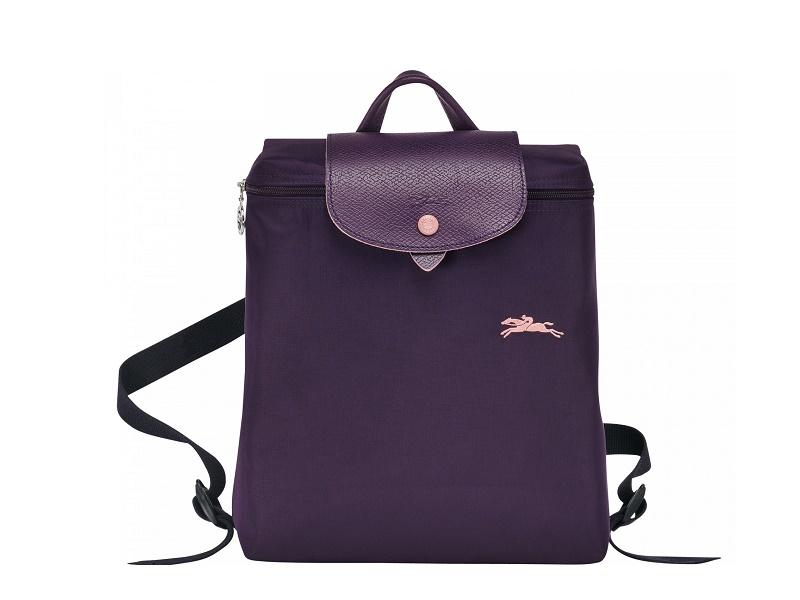 0335fa1c84 9379 LONGCHAMP Le Pliage Club Backpack BILBERRY