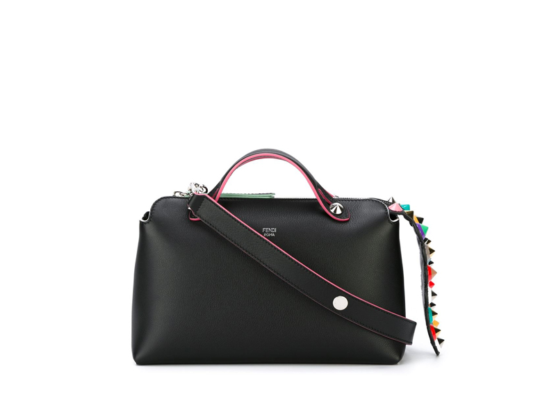 0a0cf52a0f fendi Small BTW Multicolor Studded Tail BLACK