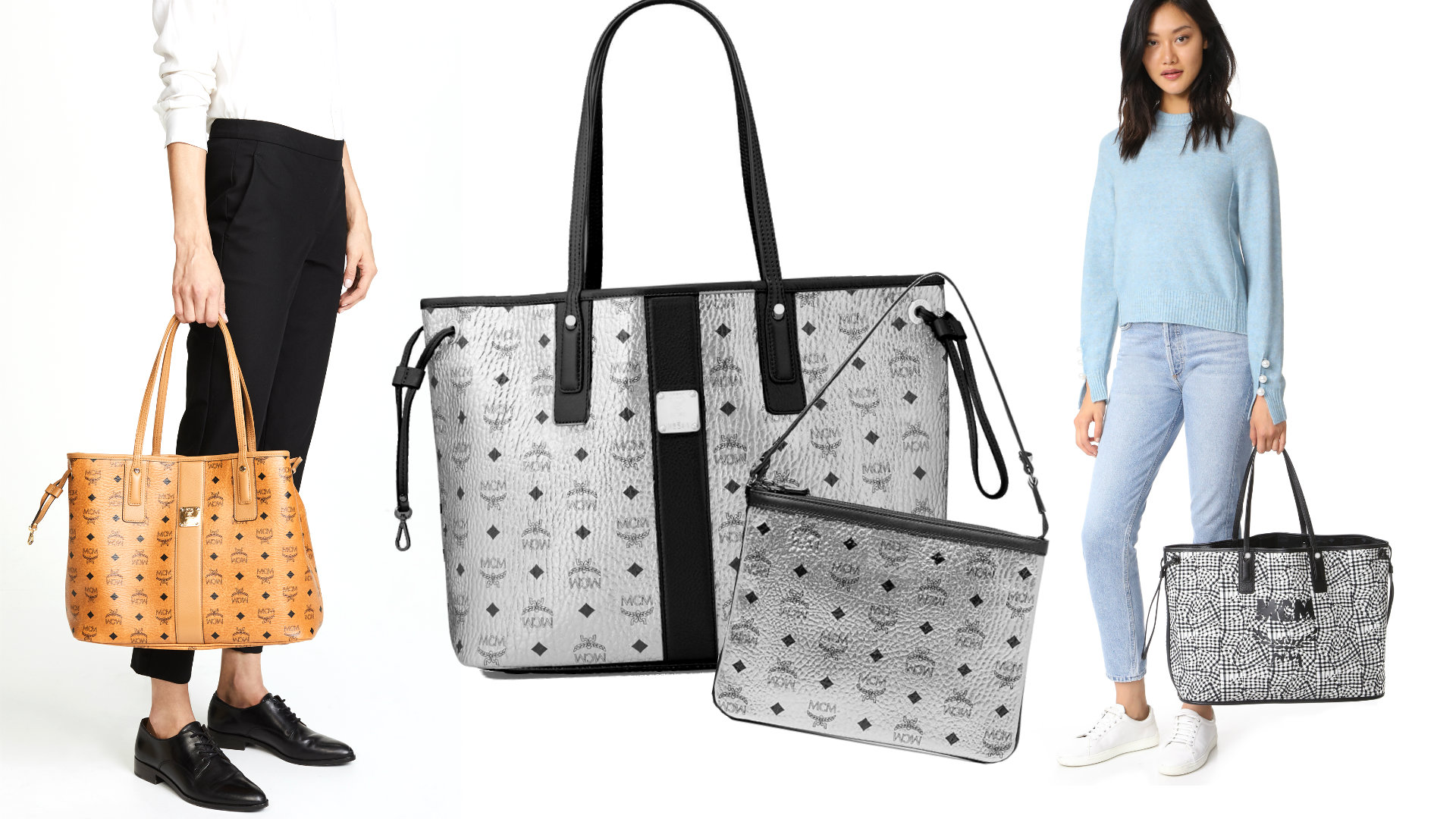 Liz Reversible Tote And Pouch
