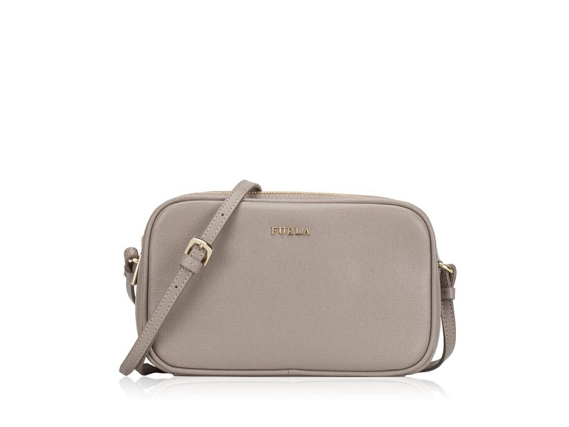 nice shoes hot product online for sale 2018 NEW YEAR SALE FURLA Lilli Double Zip Crossbody SABBIA
