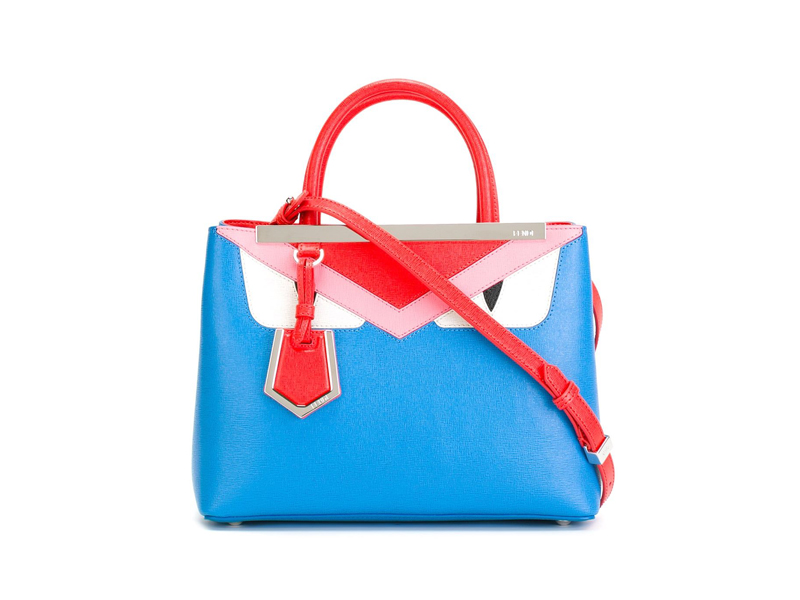FENDI Mini 2 Jour Monster Bag BLUE   319ab8dcc0