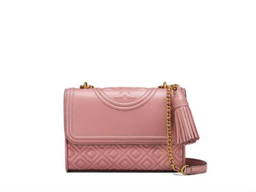 5ac4ef51b9b4 5990 TORY BURCH Small Fleming Convertible Bag PINK MAGNOLIA