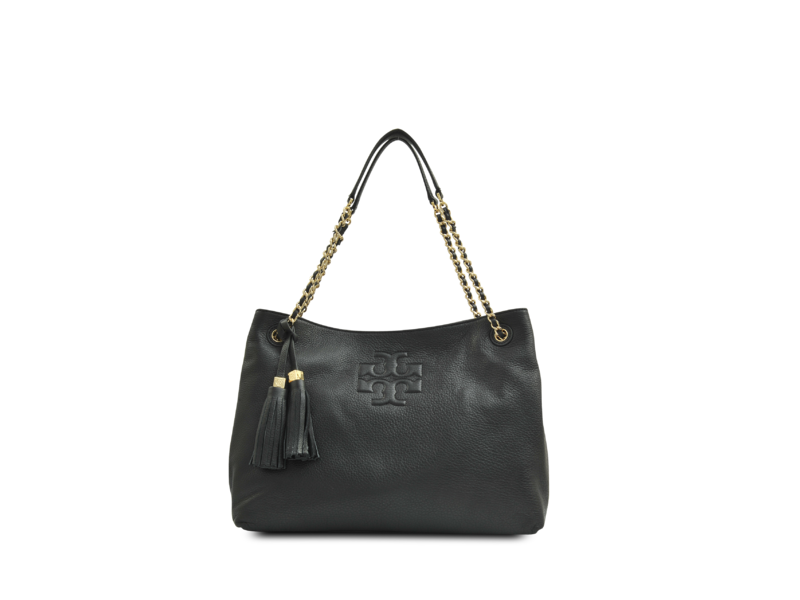 45f1b601c09 5990 TORY BURCH Thea Chain Shoulder Slouchy Tote BLACK