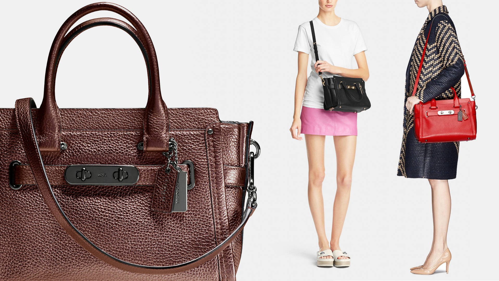 Swagger Pebbled Leather Bags