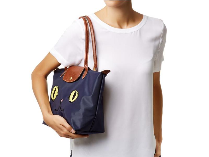 Le Pliage Miaou Long Handle Tote Bags |