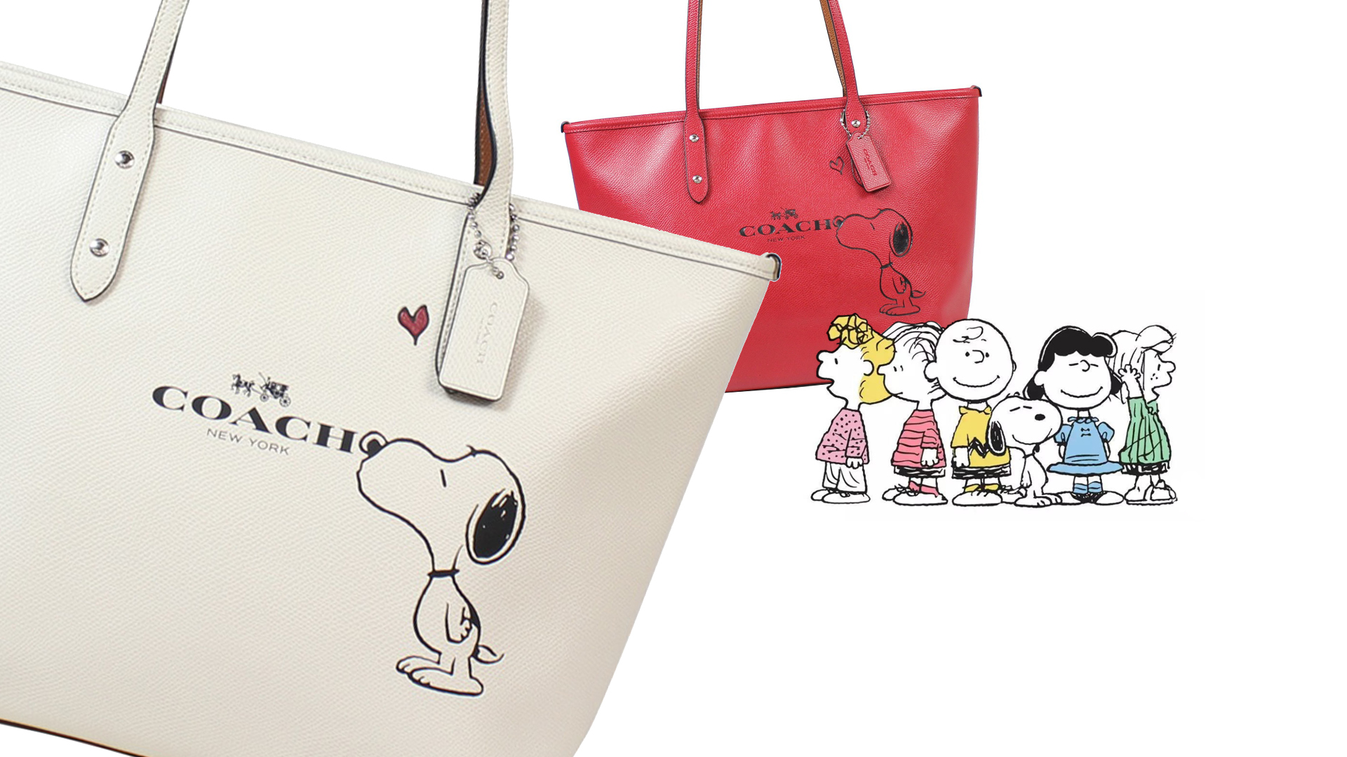 Limited Edition Snoopy City Zip Tote Bag