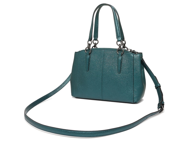 fbf32b95a 7538 COACH Mini Christie METALLIC DARK TEAL