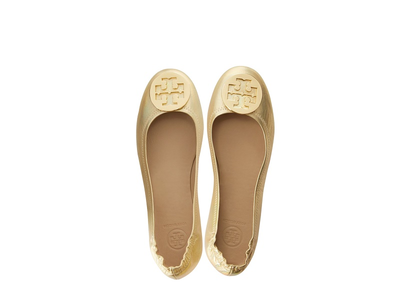 fc96226d19bcbe img · img · img. Feature  Specs. Tory Burch s gold-toned Minnie travel  ballet flats ...