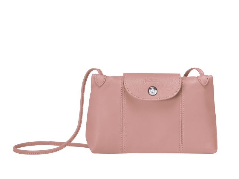 Le Pliage Cuir Leather Crossbody Bag  