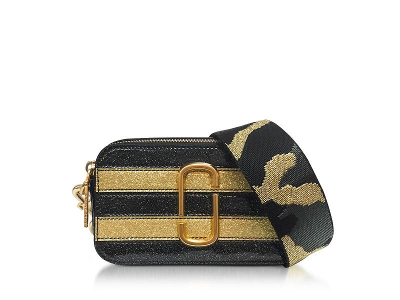863fa59b5075 MARC JACOBS MARC JACOBS Snapshot Camera Bag STRIPE GLITTER GOLD