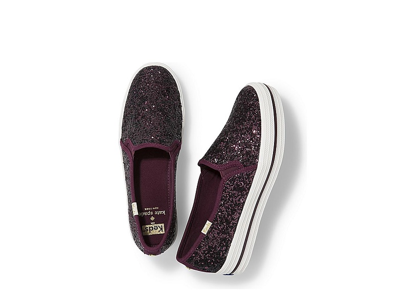 131c43681ac4 MID YEAR SALE KEDS X KS Triple Decker Glitter DEEP CHERRY (Size  6 9)