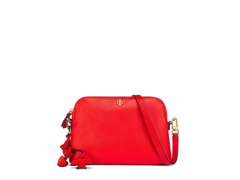 afcb142af81 6223 TORY BURCH Peace Dome Crossbody Bag RED