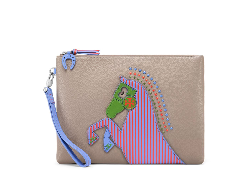 8cfc68f923bb img img. img. img img. Feature  Specs. TORY BURCH Horse Large Pouch ...