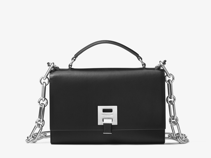 177f65629e3f 8862 MICHAEL KORS Bancroft Shoulder Bag BLACK