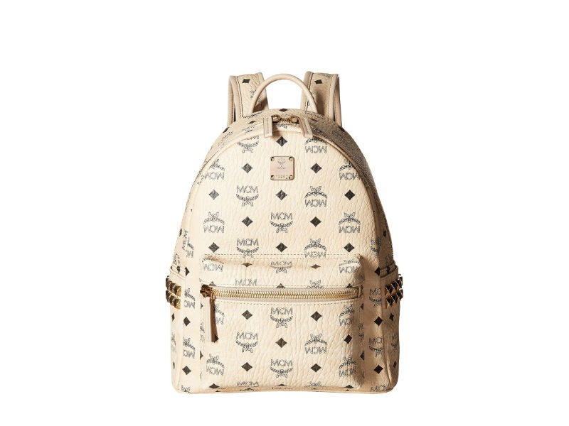 0461775bb10 4830 MCM SMALL STARK BACKPACK IN SIDE STUDDED VISETOS BEIGE